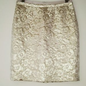 Truly Gorgeous Gold Brocade Pencil Skirt
